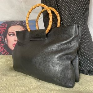 Talbots leather tote purse